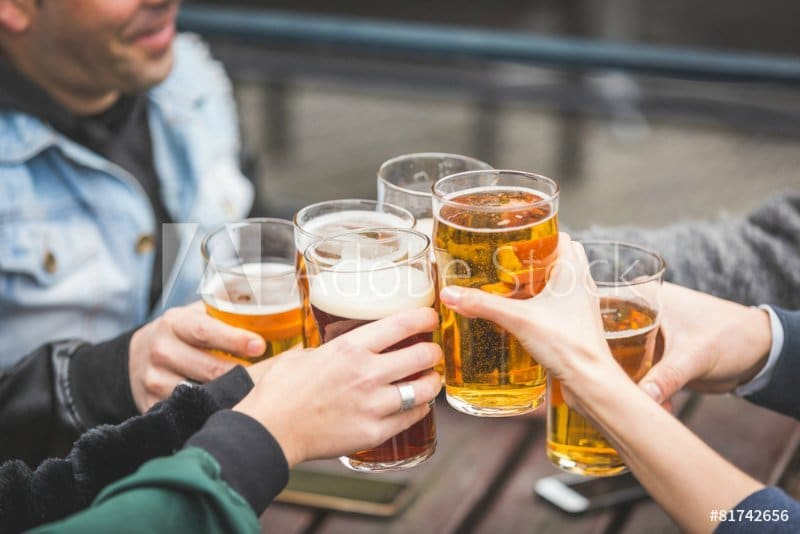 Drinking Alcohol can dehydrate you and should be reduced