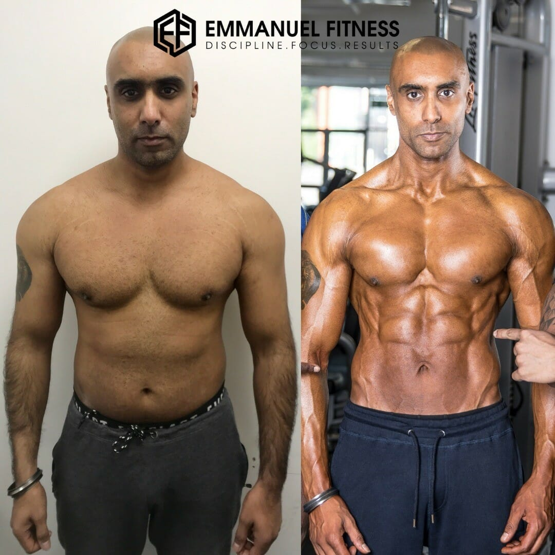 Ripped results for Emmanuel PT Client
